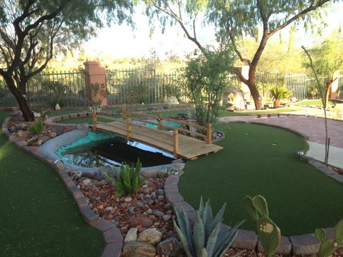 Have some fun on our miniature golf course!